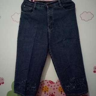 Celana 3/4 Henwood Biru Jeans Size 28