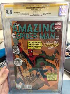 Amazing Spider-Man #700 cgc 9.8 stan lee signed