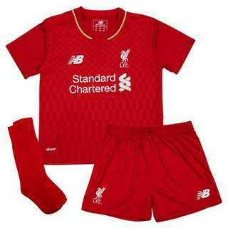 Toddler Boys Kids Liverpool Home Away Third Kit 2015-2016 SS Short Sleeve Jersey With Shorts And Socks