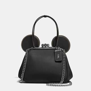 Disney X Coach - Mickey Kisslock Bag in Glovetanned Leather