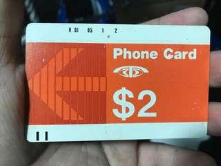 Rare telecom phone card