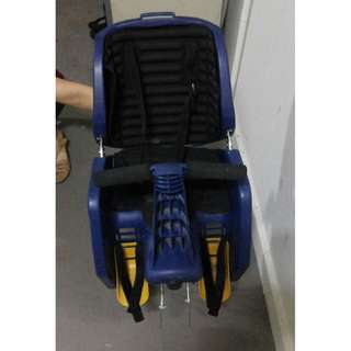 Rear child seat for bike bicycle with rack