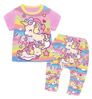 Unicorn baby pajamas
