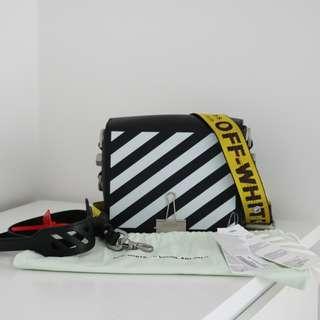 Off White Diagonal Binder Clip leather shoulder bag