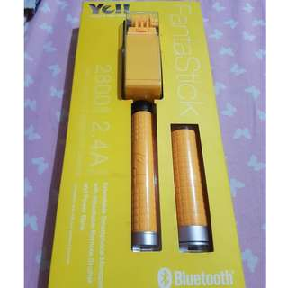 Yell Fantastick - Extendable Smartphone Monopod with detachable Remote Shutter and Power bank