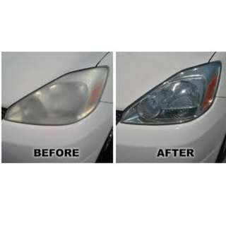 CAR HEADLIGHT POLISHING - CAR SERVICE