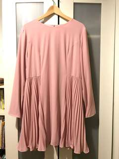 FV Pleated blouse in rose pink UK16/XXL