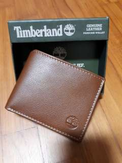 Brand new with tag in box original Timberland Men Brown Leather Wallet