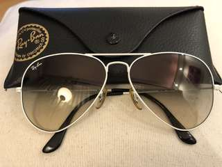 Ray-ban 白色太陽眼鏡