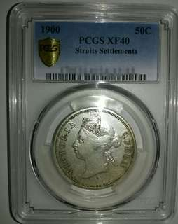 Straits 1900 50 cents PCGS graded