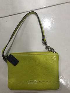 Coach -Yellow-wristlet