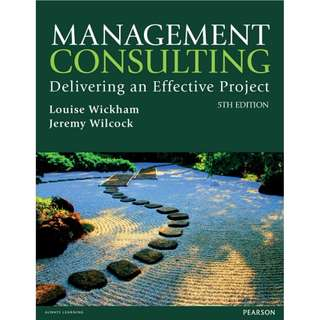 Management Consulting Delivering an Effective Project 5th Edition