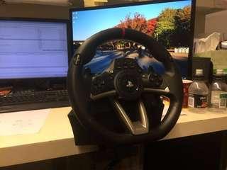 Hori 賽車軚盤,100%操作正常,極少用,有盒