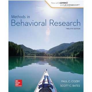Methods in Behavioral Research 12th Edition