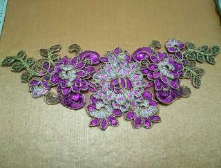 Purple Brokat Headpiece