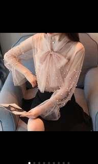 Lace blouse top