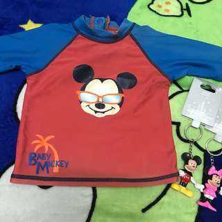Disney rushguard for Toddler and keychain