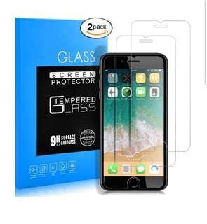 2pcs Iphone 7/8 Plus Glass screen protector