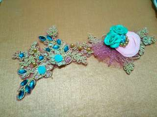 Tosca - Pink Brokat Headpiece