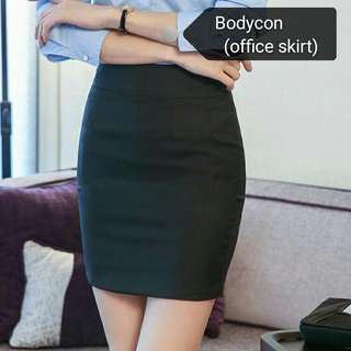 OEM Bodycon Zipper Skirt Office lady