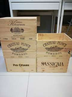 Brand new wooden wine crates or boxes 5 for $65