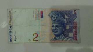 Old Ringgit Malaysia note- RM2