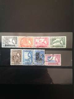 Penang 1957 State Def 8V Used & Mint to $1 (0442)