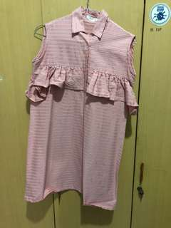 Striped Dress Pink merk Neun