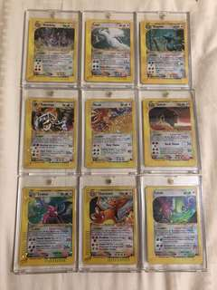 Complete Holographic Crystal Pokemon Cards
