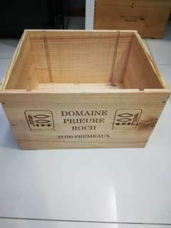 Brand new wooden wine crates or boxes