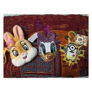 日本 迪士尼 環球影城 邦妮兔 黛西 minions小小兵 票卡夾