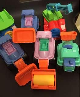 玩具工程車六架