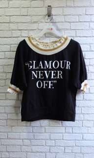 [NEW] Blouse Hitam Glamour Mission72