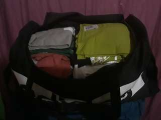 Men clothes with 2 bags (one is adidas) #sweldosale6