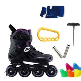 ALL-IN-ONE Freestyle roller brade skates with optional skating lesson