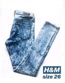 H&M Acid Wash Denim Jeans✨