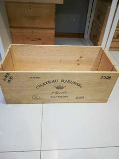 Wooden wine crates or boxes