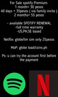 Lowest Spotify and Netflix