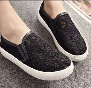 CLEARANCE   Crochet Loafers (Black)