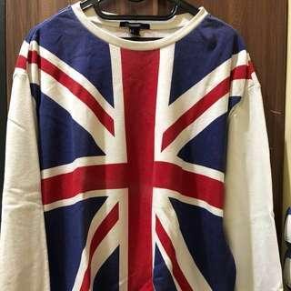 Forever 21 British Flag Sweater, FREE Sunglasses