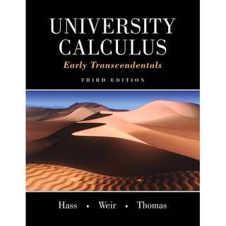 University Calculus 3rd Edition