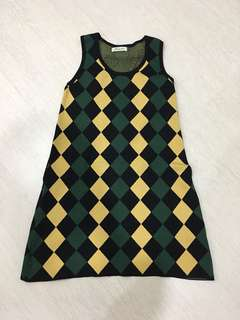 Unique Knit Checkers Dress