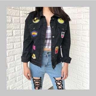 Jacket Denim Blacky Patch