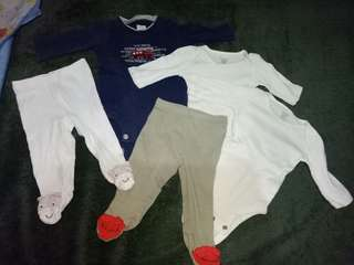 (....TAKE ALL...!!!!)CARTERS NB BABY onesies