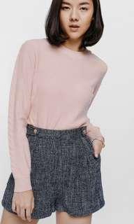 [LB] Helyna High Waist Button Tweed Shorts