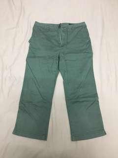 Uniqlo 3/4 Green Pants