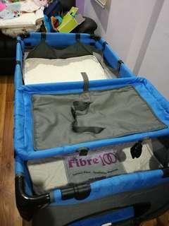 Baby Cot Playpen Full Set with Coconut Fiber Mattress