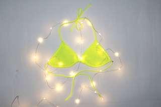 Neon Lacy Bikini Top