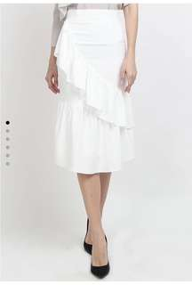 Lowela white mermaid skirt