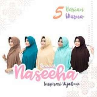 Jilbab serut warna tosca